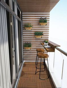 Wonderful Small Apartment Balcony Decor Ideas with Beautiful Plant - Apartment Decor - Design RatBalcony Plants tan Furniture Small Balcony Decor, Small Balcony Design, Small Balcony Garden, Terrace Design, Balcony Ideas, Garden Design, Apartment Balcony Garden, Small Balconies, Small Balcony Furniture