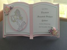 Bookatrix Christening Card
