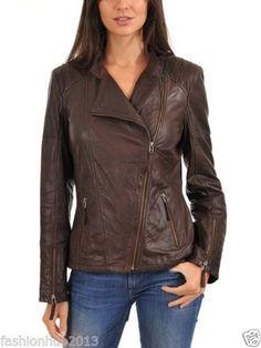90be547800008 New Women Motorcycle Lambskin Leather Jacket Coat Size XS S M L XL LTUK515   fashion  women