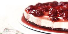 Cheesecake com compota caseira de morango | DigaMaria