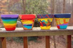 Paint your own pots for Rainbow pot's of gold