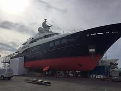 Our #ABCPaint team have been busy on board the mighty 2008 Hakvoort Grootkeukens built #MYAwatea with an interesting ongoing project.  #SuperyachtFinishingService www.absoluteboatcare.net