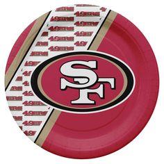 San Francisco 49ers Disposable Paper Plates