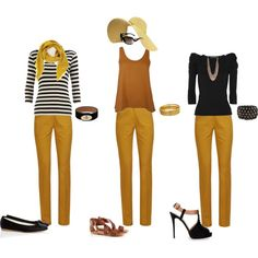 Take a look at the best what to wear with design leggings in the photos below and get ideas for your outfits! what to wear with leggings Image source Mustard Jeans Outfit, Yellow Jeans Outfit, Colored Jeans Outfits, Mustard Yellow Outfit, Mustard Pants, Yellow Clothes, Colored Pants, Pants Outfit, Outfit Work