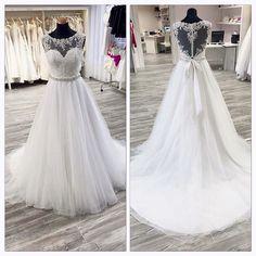 Wedding Dress A-line Wedding Dress white Wedding Dress,Luxury