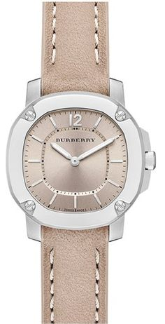 Burberry The Britain Leather Strap Watch http://rstyle.me/n/fg7npnyg6