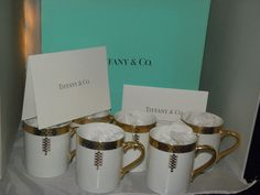 SET OF 6 Imperial China Mug for Tiffany & Co. Frank Lloyd Wright FDN/ 1992 #TIFFANYCO