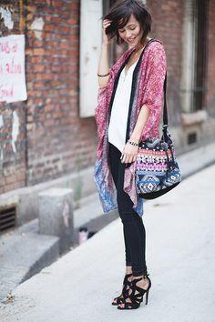 Les babioles de Zoe: boho kimono, ethnic bag