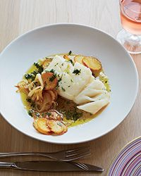 Poached Cod with Tomatoes  Escarole Recipe Tomatoes, Fish and