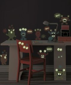 Take a look at this Little Monsters Glow-in-the-Dark Wall Decal Set by WallPops! on #zulily today!