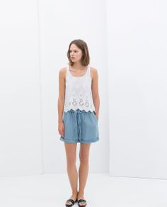 Image 2 of LACE TANK TOP from Zara
