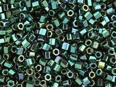 TOHO Bead Hex 8/0 Higher-Metallic Emerald Green AB