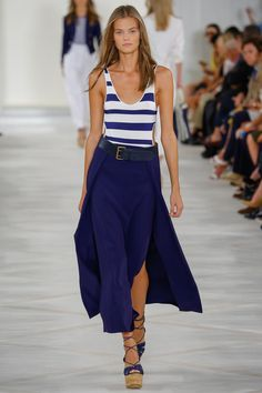 Ralph Lauren Spring 2016 Ready-to-Wear Fashion Show - Kate Grigorieva