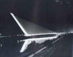 Santiago Calatrava Alamillo Bridge  #SantiagoCalatravaArchitecture Pinned by www.modlar.com