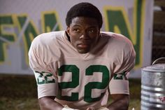 """""""Woodlawn"""" movie still, 2015. Caleb Castille as Tony Nathan. PLOT: A gifted high school football player (Castille) must learn to embrace his talent and his faith as he battles racial tensions on and off the field. Another Christian football movie. Football Movies, High School Football Player, Football Players, Woodlawn Movie, Tony Nathan, Faith, Christian, Soccer Players, Loyalty"""