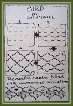z-inspiration: A New Tangle SIRD..by Delip Pafel, Certified Zentangle Teacher