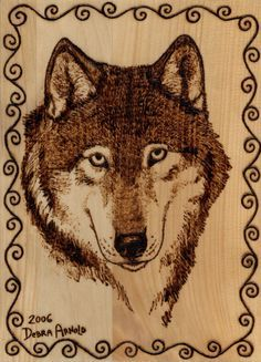 Free Printable Wood-Burning Patterns | Woodburning Wolf Portrait by ~DebsDen on deviantART