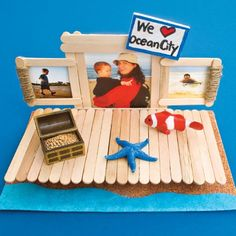 Boardwalk Frame...and other family/kid craft ideas :o)