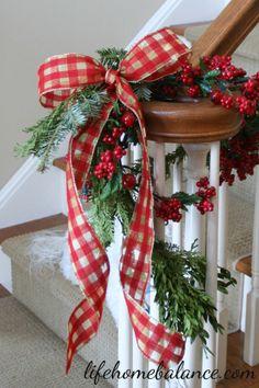 Christmas Banister Bow