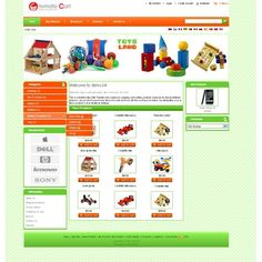 Toys shop #template for #tomatocart. Template supports following languages : English, German, French, Turkish, Romanian, Russian, Spanish, Vietnamese, Chinese, Dutch and Portuguese