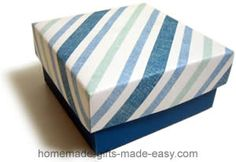 Make your own gift box with fitting lid, using this simple design template