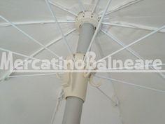 Ombrelloni professionali per spiaggia in alluminio  Q.TA' 4 EURO 40.00 - Mercatino Balneare ombrelloni 100/10 palo alluminio baionetta chiusura con pulsante tessuto acrilico colore bianco in discrete condizioniprezzo cadaunoi.v.a. e trasporto esclusi Quantità:4 Prezzo €40.00+iva  https://www.mercatinobalneare.it/annuncio/ombrelloni-professionali-per-spiaggia-in-alluminio-q-ta-4-euro-40-00/  #stabilimentobalneare #attrezzaturabalneare #attrezzaturabalneareusata #mer