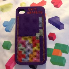 Cover Iphone 4S - Old games: Tetris - SHIT HAPPENS