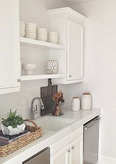 Open shelving over sink if no window