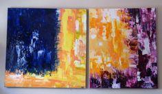 Acrylique (de gauche à droite) 36 X 36 (pouces) 92,5 X 92,5 (cm) 36 X 30 (pouces) 92,5 X 76, 5 (cm) VENDU