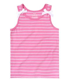 This Pink Stripe & Bow Tank - Infant & Toddler by RUUM is perfect! #zulilyfinds