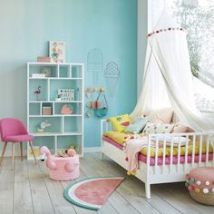 """⠀ I continue to share baby room designs presented in the catalogue """"Maisons du monde. Girl Room, Girls Bedroom, Bedroom Decor, Shared Baby Rooms, Ideas Habitaciones, Baby Room Colors, Wrought Iron Patio Chairs, Old Room, Baby Room Design"""