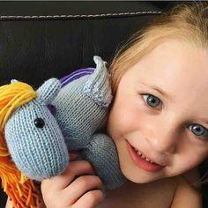 Unicorn buddy! Very happy little customer  #rainbowdash #unicorn #knit #pegasus #merino #wool #bespoke #mylittlepony #knitting #knittersofinstagram #blue #cute