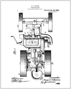 Bombardier snowmobile 10 X 13 patent drawing print