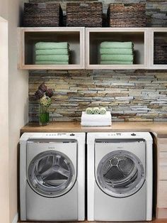 Having a #countertop for folding right above the dryer is