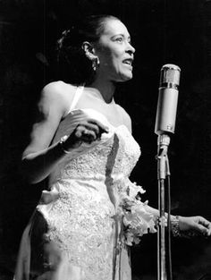See Billie Holiday pictures, photo shoots, and listen online to the latest music. Billie Holiday, Jazz Artists, Jazz Musicians, Music Artists, Kinds Of Music, My Music, Lady Sings The Blues, Miles Davis, Jazz Blues