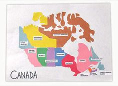 Map of Canada - a fun activity that helps your kids learn about the Canadian territories,