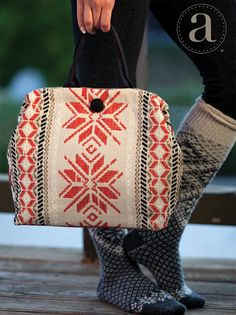 Atenti Maude Handbag - Knitting and crochet yarn, patterns, knitting bags, needles and notions. Unique Handbags, Trendy Handbags, Pagan Symbols, Pouch Pattern, My Heritage, Working Woman, Knitted Bags, Handicraft, Tapestry