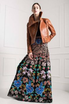 mode femme hiver 2015 2016 , jupe longue street style