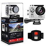 #8: AKASO EK7000 4K WIFI Sports Action Camera Ultra HD Waterproof DV Camcorder 12MP 170 Degree Wide Angle 2 inch LCD Screen/2.4G Remote Control/2 Rechargeable Batteries/19 Mounting Kits-Silver - Shop for digital SLRs (http://amzn.to/2bZ3ZZk) mirrorless cameras (http://amzn.to/2bsCDJs) lenses (http://amzn.to/2bZ35fr) drones (http://amzn.to/2bRmtgx) security cameras (http://amzn.to/2bsBiCG)