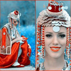 Serbian girl in traditional costume from Prizren/Kosovo (South Serbia)