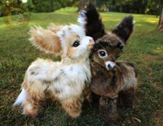 Sold, Poseable Baby Donkeys! by Wood-Splitter-Lee.deviantart.com on @DeviantArt