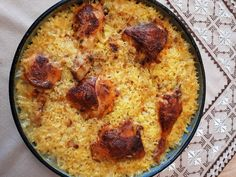Greek Recipes, Paella, Oven, Food And Drink, Chicken, Ethnic Recipes, Yummy Yummy, Greek Food Recipes, Ovens