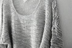 pull débutante over size et moelleux - à réaliser en associant une laine fine en triple et un fil lurex brillant