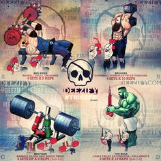 tricep exercises: skull crushers, tricep press, tricep extensions, jason, hulk, voltron
