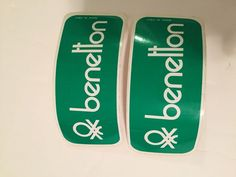 Vintage Benetton Clothing Brand Sticker lot of 2 Made in Italy #Benetton
