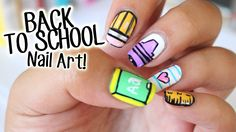 BACK TO SCHOOL NAIL ART! 5 EASY DESIGNS PART 1  https://www.youtube.com/watch?v=DTUOS9qadKs