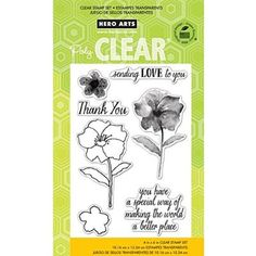 """Hero Arts Clear Stamps 4""""X6"""" Sheet-Making The World A Better Place"""