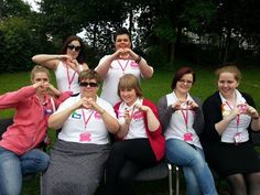 Lovely picture of the team - heart selfies for Alice