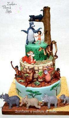 The Jungle Book Cake by oldrose