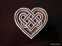 Wood Block Stamp Tjaps Indian Wood Stamp by charancreations Art Indien, Celtic Symbols, Celtic Knots, Ancient Indian Art, Seasoned Wood, Celtic Heart, Wood Stamp, Lost Art, Boxing